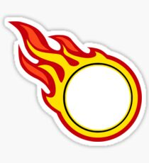 Dot On Fire Sticker