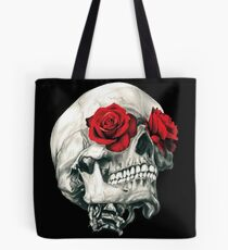 Rose Eye Skull Tote Bag