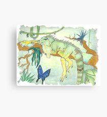 Rainforest Reptile Canvas Print