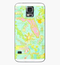Lilly Pulitzer Florida Print Inspired Case/Skin for Samsung Galaxy