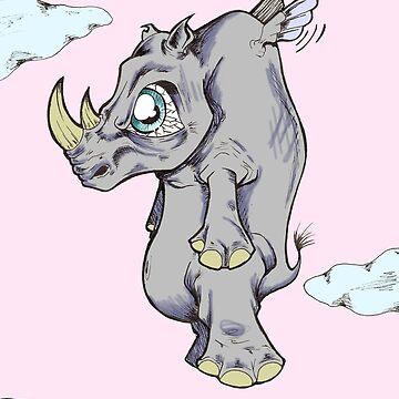Rhino by drogelart