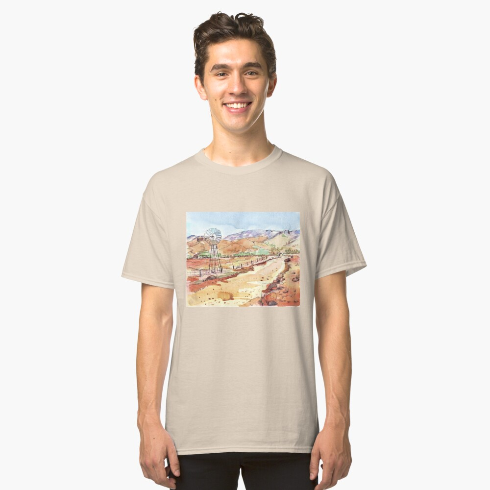 Windpomp in the Karoo Classic T-Shirt Front