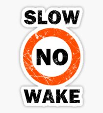 Slow No Wake Nautical Signage Sticker
