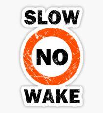 Slow No Wake Nautical Signage Sticker