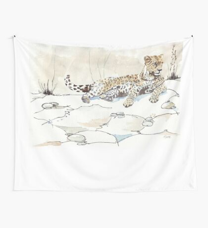 African Leopard {Panthera pardus} 'Luiperd' Wall Tapestry