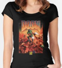 DOOM CLASSIC COVER Women's Fitted Scoop T-Shirt