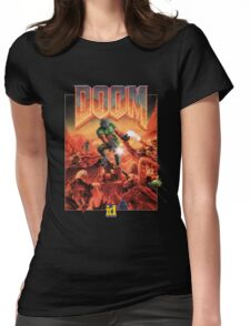 DOOM CLASSIC COVER Womens Fitted T-Shirt