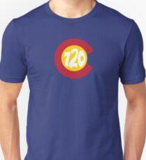 Hand Drawn Colorado Flag 720 Area Code Unisex T-Shirt