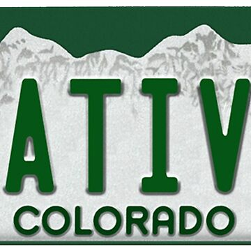 Colorado Native License Plate by Epicloud