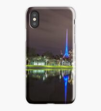 View of the Melbourne Rowing Sheds at night iPhone Case/Skin