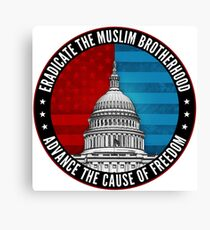 Eradicate The Muslim Brotherhood Canvas Print