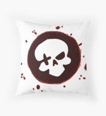 Deadeye Splatter Throw Pillow