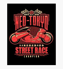 Neo-Tokyo Street Racing Champion Photographic Print