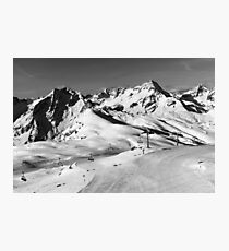 Alps and Pistes Photographic Print