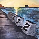 """""""Merewether Baths"""" by Margo Humphries by Margo Humphries"""