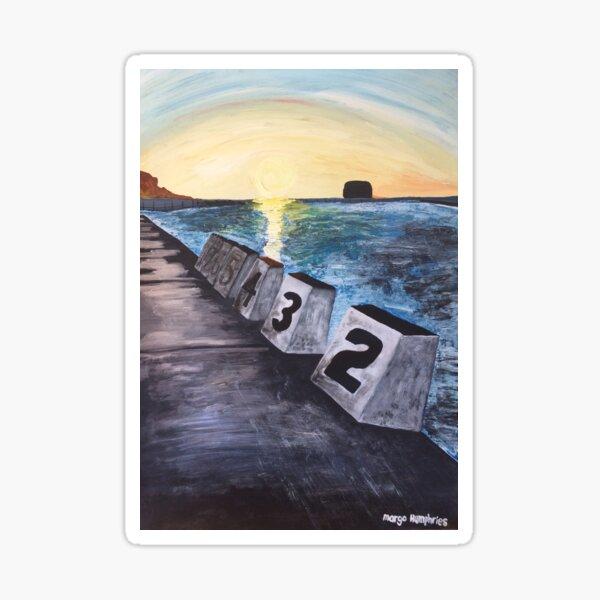 """""""Merewether Baths"""" by Margo Humphries Sticker"""