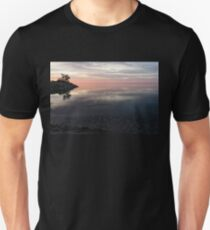 Silky Morning on the Lake - Pink and Purple Serenity T-Shirt