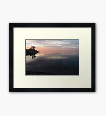 Silky Morning on the Lake - Pink and Purple Serenity Framed Print