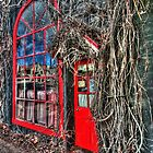 Red door on Argyle Street. by Ian Ramsay