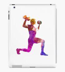Man exercising weight training workout fitness iPad Case/Skin