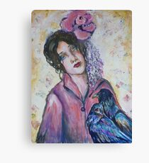 The Ravens and the Rose Canvas Print