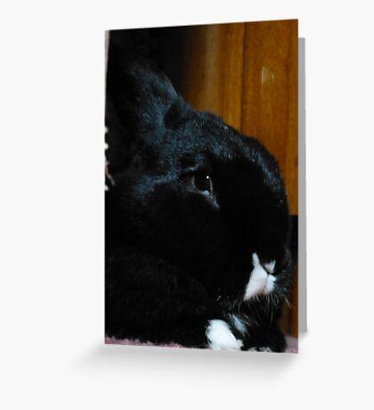 Smudge Portrait Greeting Card