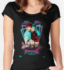 Neon 80's GREASE 2  Women's Fitted Scoop T-Shirt