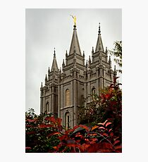 Salt Lake City Temple Angle Photographic Print