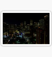 Downtown Houston at Night Sticker