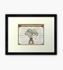 Jansson Map of the Ancient World - OrbisTerrarum Framed Print