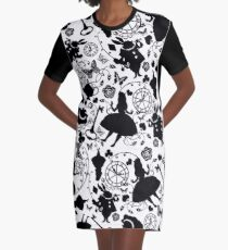Alice in Wonderland Graphic T-Shirt Dress