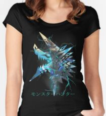 Monster Hunter - Zinogre  Fitted Scoop T-Shirt