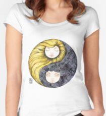 Yin Yang Daughters Sun/Rain Women's Fitted Scoop T-Shirt