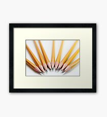 Cutout of sharp pencils  on white background Framed Print