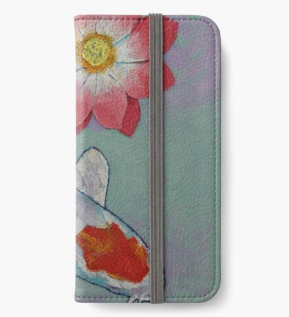 Koi and Lotus iPhone Wallet