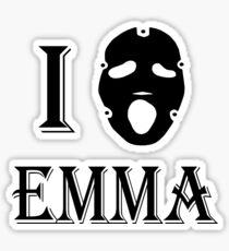I love Emma - Black Sticker