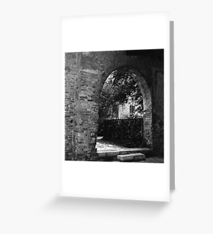 Courtyard Greeting Card