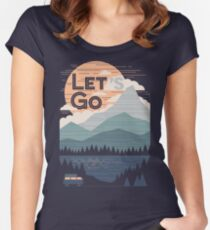 Let's Go Women's Fitted Scoop T-Shirt