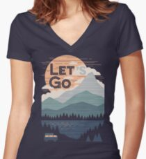 Let's Go Fitted V-Neck T-Shirt