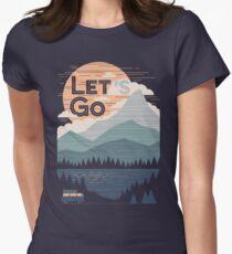 Lass uns gehen Tailliertes T-Shirt für Frauen