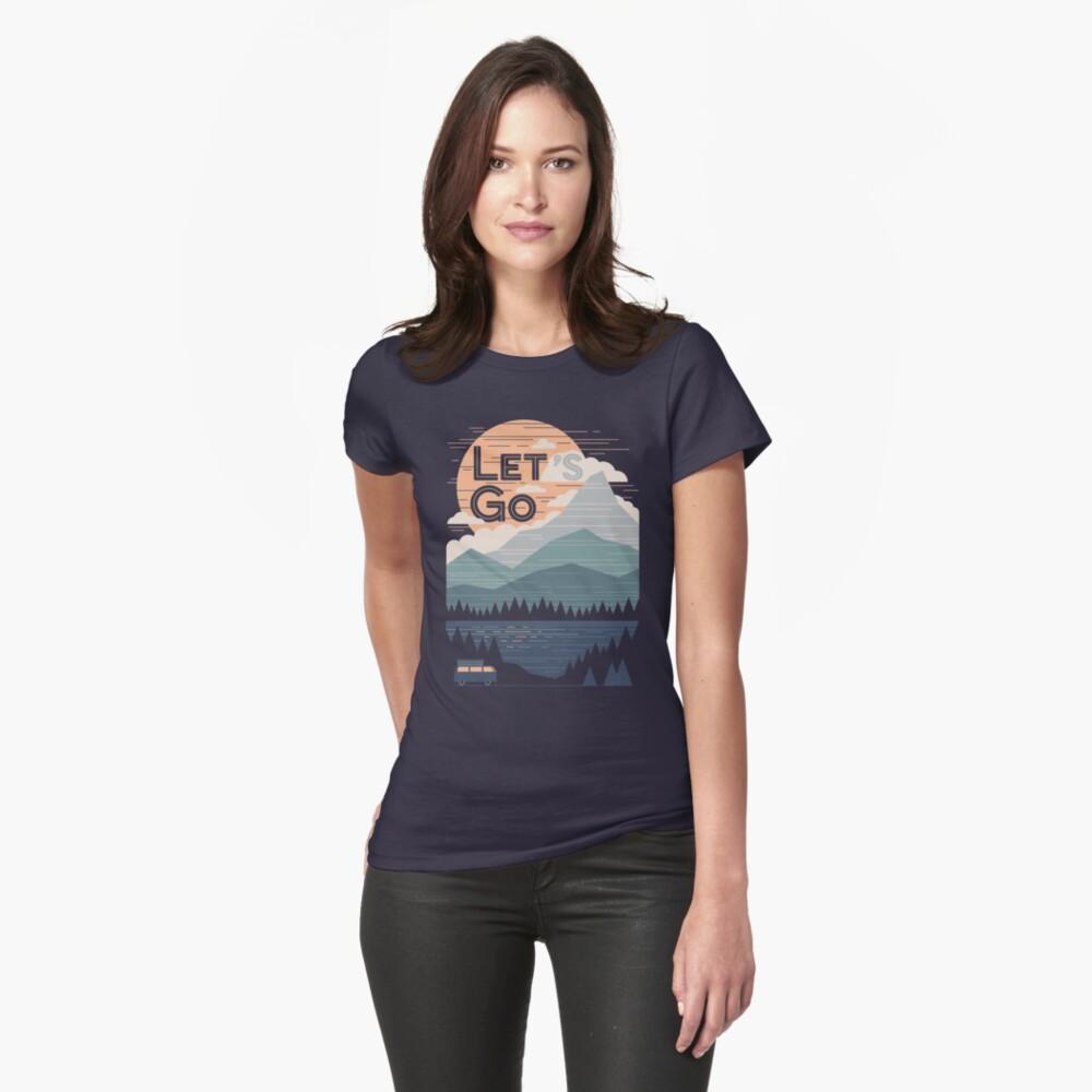 Lass uns gehen Frauen T-Shirt Vorne