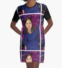 The impossible girl exploring in space Graphic T-Shirt Dress