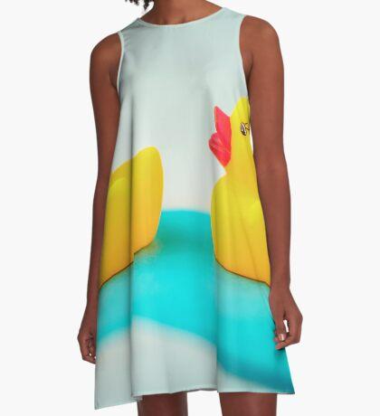 Gummienten A-Linien Kleid