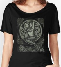 Vintage Classic Pinup Mermaid Women's Relaxed Fit T-Shirt