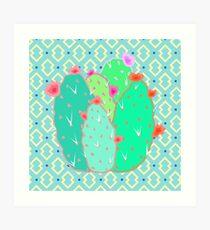 Pear Cactus Art Print