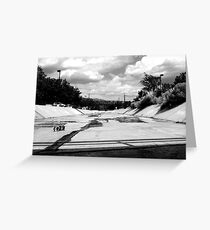 ditches in Abq Greeting Card