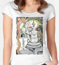 The head of giant cyborg.  Women's Fitted Scoop T-Shirt