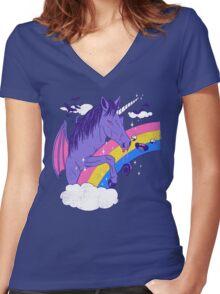 Vampcorn Women's Fitted V-Neck T-Shirt