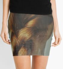 the beautiful lady with the braid Mini Skirt
