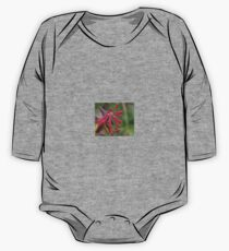 Trumpet Honeysuckle - Buds of Coral Woodbine One Piece - Long Sleeve